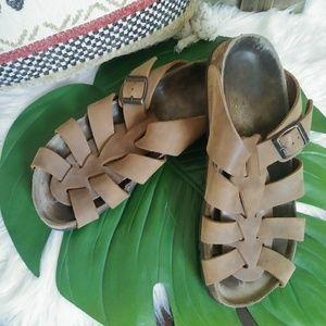 Papillio Birkenstock brown sandals